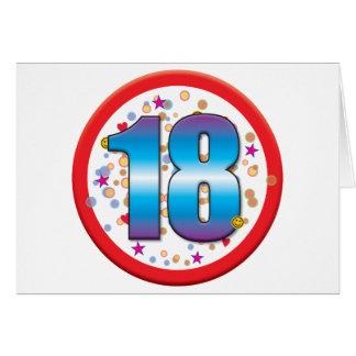 décimo octavo Cumpleaños v2 Tarjeta De Felicitación