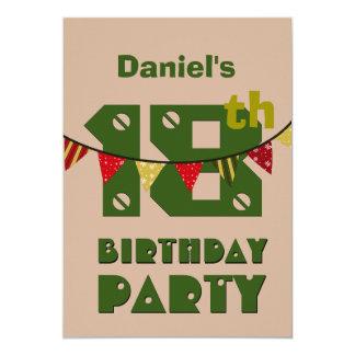 décimo octavo El estilo moderno del cumpleaños con Invitaciones Personales