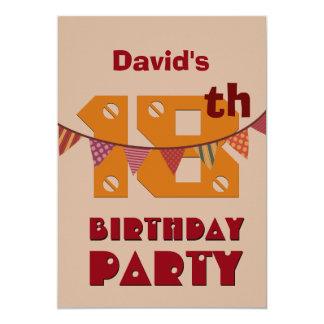 décimo octavo El estilo moderno del cumpleaños con Invitación 12,7 X 17,8 Cm