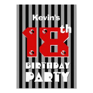 décimo octavo El gris negro moderno del cumpleaños Comunicado