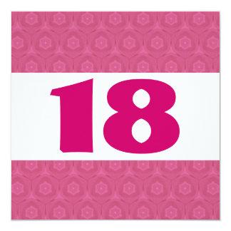 décimo octavo El rosa festivo de la fiesta de Invitación 13,3 Cm X 13,3cm