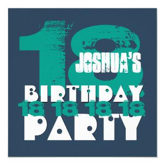 décimo octavo Grunge año Z18A de la fiesta de Invitación 13,3 Cm X 13,3cm