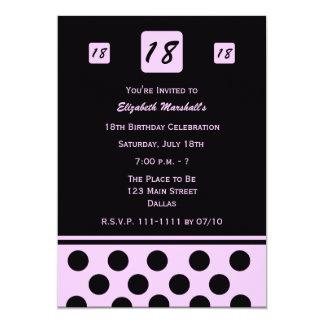 décimo octavo Invitación 18 modernos de la fiesta