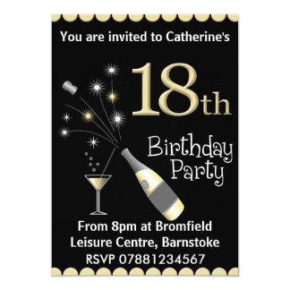 décimo octavo Invitación de la fiesta de