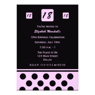 décimo octavo Invitación de la fiesta de cumpleaño