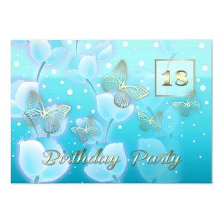 décimo octavo Invitaciones del personalizado de la Invitación 12,7 X 17,8 Cm