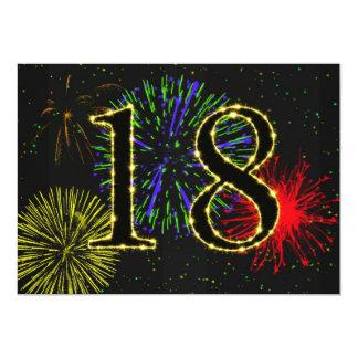 décimo octavo invitate de la fiesta de cumpleaños invitación 12,7 x 17,8 cm