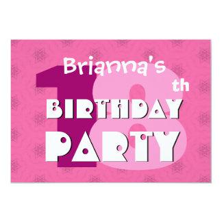 décimo octavo La fiesta de cumpleaños 18 años de Invitación 12,7 X 17,8 Cm