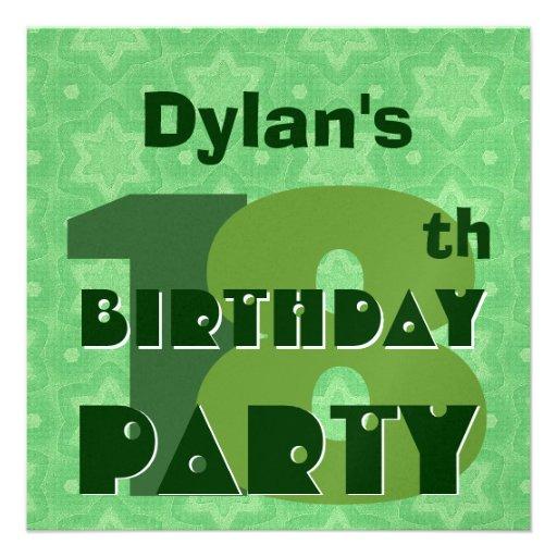 décimo octavo La fiesta de cumpleaños 18 años de v Invitacion Personal