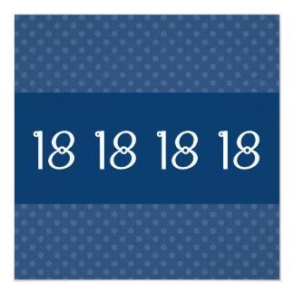 décimo octavo Modelo de lunar azul de la fiesta de Invitación 13,3 Cm X 13,3cm