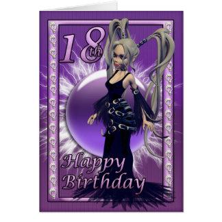 décimo octavo Muñeca gótica del cumpleaños, feliz Tarjetas