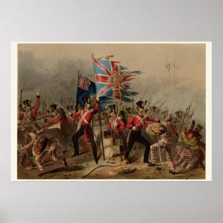 décimo octavo Regimiento irlandés real en Amoy Póster