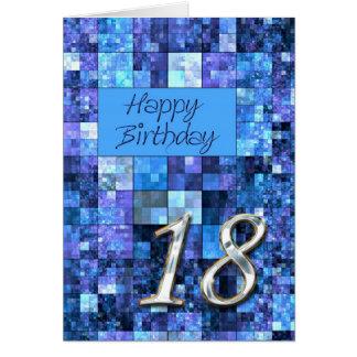 décimo octavo Tarjeta de cumpleaños con los cuadra