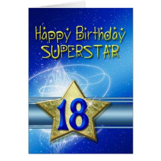décimo octavo Tarjeta de cumpleaños para la