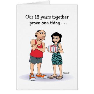 décimo octavo Tarjeta del aniversario: Amor