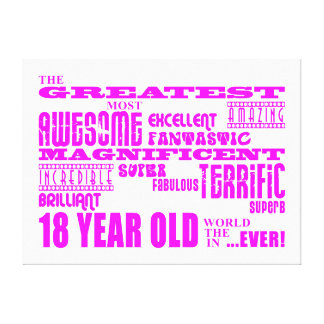 Décimo octavos cumpleaños de los chicas: 18 años impresión en lienzo