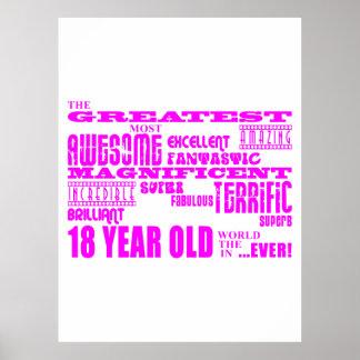 Décimo octavos cumpleaños de los chicas: 18 años m poster