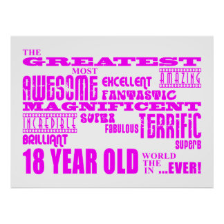 Décimo octavos cumpleaños de los chicas 18 años m posters
