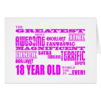 Décimo octavos cumpleaños de los chicas: 18 años tarjeta pequeña