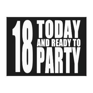 Décimo octavos cumpleaños divertidos: 18 hoy y ali impresión en lona estirada