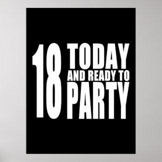Décimo octavos cumpleaños divertidos 18 hoy y ali poster