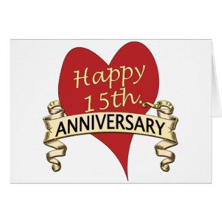décimo quinto. Aniversario Tarjeta De Felicitación