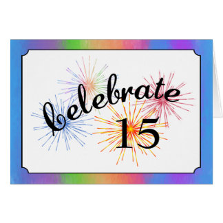 décimo quinto Celebración del aniversario Tarjeta De Felicitación