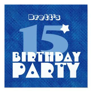 Décimo quinto cumpleaños adolescente moderno invitación 13,3 cm x 13,3cm
