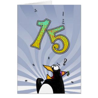 décimo quinto cumpleaños - tarjeta de la sorpresa