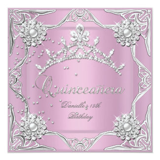 Décimo quinto de cumpleaños de Quinceanera de la Invitación 13,3 Cm X 13,3cm
