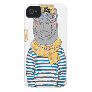 Décimo quinto de febrero - día del hipopótamo - carcasa para iPhone 4 de Case-Mate