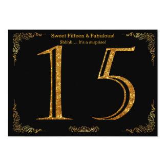 décimo quinto, dulce quince, fiesta de cumpleaños, invitación 12,7 x 17,8 cm