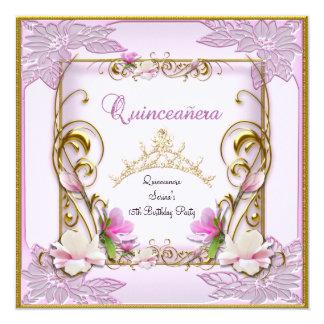 Décimo quinto fiesta blanco rosado bonito de