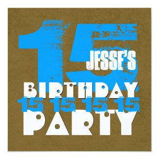 décimo quinto Grunge año Z15A de la fiesta de Invitación 13,3 Cm X 13,3cm