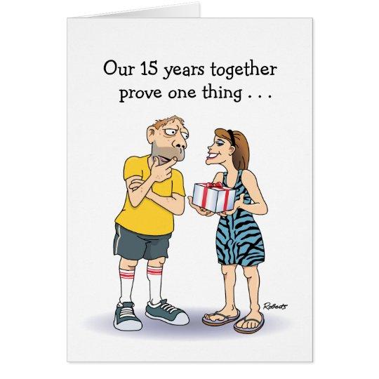 décimo quinto Humor del amor de la tarjeta del
