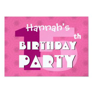 décimo quinto La fiesta de cumpleaños 15 años de Invitación 12,7 X 17,8 Cm