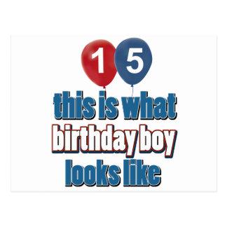 décimo quintos diseños del cumpleaños del año postal