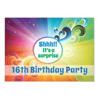 décimosexto Bendiciones religiosas del arco iris Invitación 12,7 X 17,8 Cm