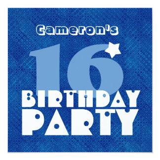 Décimosexto cumpleaños adolescente moderno invitación 13,3 cm x 13,3cm