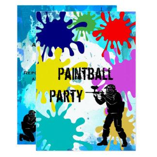 Décimosexto cumpleaños de Paintball Invitación 12,7 X 17,8 Cm