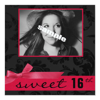 Décimosexto fiesta de cumpleaños adolescente del invitación 13,3 cm x 13,3cm