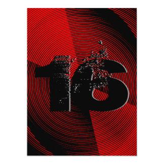 Décimosexto fiesta de cumpleaños adolescente invitación 16,5 x 22,2 cm