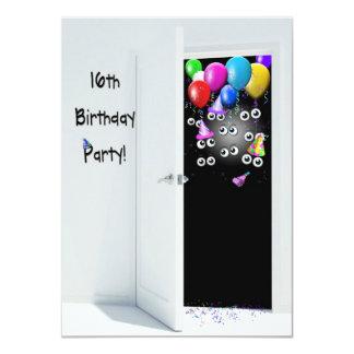 décimosexto Fiesta de sorpresa del cumpleaños Invitación 11,4 X 15,8 Cm