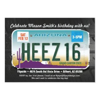 Décimosexto invitación de la licencia de Arizona