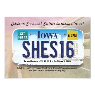 Décimosexto invitación de la licencia de Iowa del