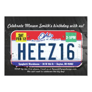 Décimosexto invitación de Ohio del cumpleaños del