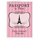 Décimosexto invitación del pasaporte del dulce felicitaciones