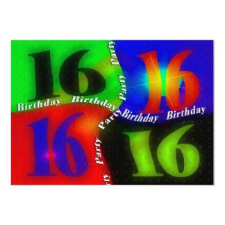 décimosexto INVITACIONES de la fiesta de Invitación 12,7 X 17,8 Cm
