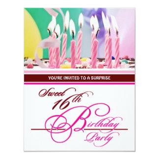 Décimosexto invitaciones de la fiesta de invitación 10,8 x 13,9 cm