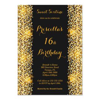 décimosexto Mujer de la fiesta de cumpleaños, Invitación 12,7 X 17,8 Cm